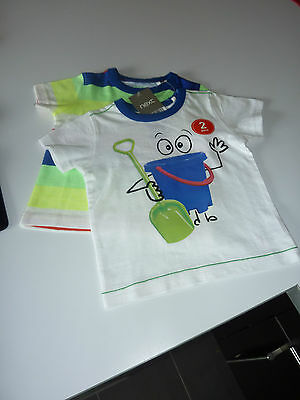 NEXT 2 Cute Little Boys Summer T-Shirts NWT Size 6-9 Months