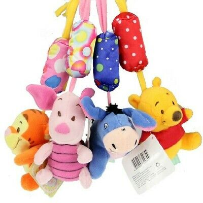 Authentic Disney Baby Kid Crib Plush Soft Stuffed Windbell Hanging Rattles Toy