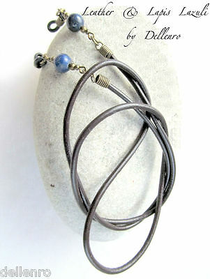 ✫Leather & Lapis Lazuli✫ Eyeglass Glasses Spectacles Chain Holder  Holder Cord
