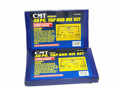 NEW 80pc Tap and Die Set 40pc Metric and 40pc SAE Thread Renewing Tools