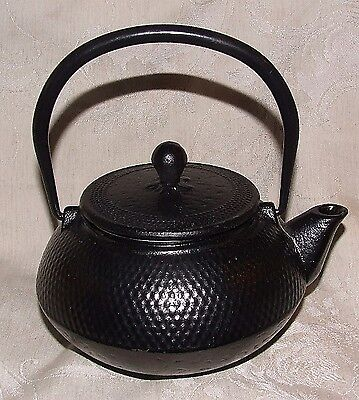 Brand New Japanese Cast Iron Hammered Hobnail Tea Pot Teapot Tetsubin w Strainer