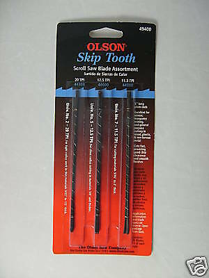 Pack of 3 Dozen Olson Skip Tooth Scrollsaw Blades