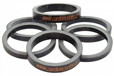 eXotic Carbon Headset Spacer Set for 1 Inch Steerer, 6 x Carbon Weave Spacers 3K