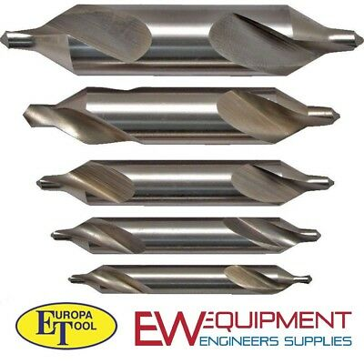 Centre Drill Set Bs1 Bs2 Bs3 Bs4 Bs5  Engineering Precision Europa Tools