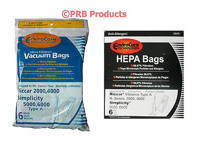 For Riccar Micro-lined or HEPA VIBP Allergy A Bags Vacuum Cleaner Model R Series