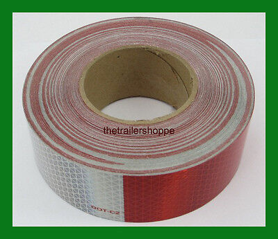 "CONSPICUITY Tape 11"" Red 7"" White 2"" X 50' DOT Approved Reflective Reflector"
