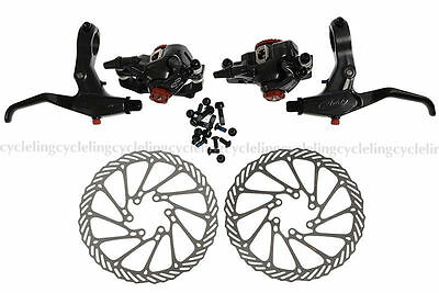Avid BB7 Disc Brake Front and Rear Calipers 160mm G3 Rotors SD7 Levers