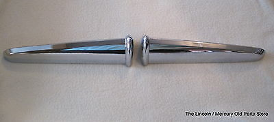 1951 Lincoln Ornament Trunk Handle Extension Pair - Nos  1L-7242512 +