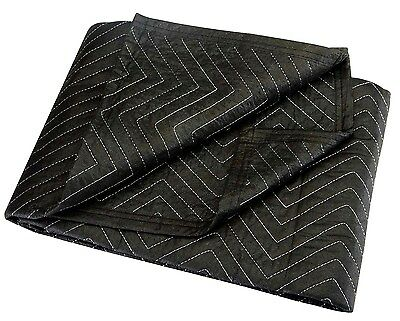 "40"" x 72"" MOVERs BLANKET BLACK poly & cotton PaDDeD Quilted furniture Moving Pad"