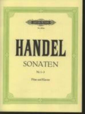 HANDEL - Sonatas Nos. 1-3 For Flute & Piano *NEW* Sheet Music AMEB Gr.4 & 6