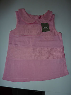 NEXT Really Sweet Little Pink Cami Top 6-9 Months NWT