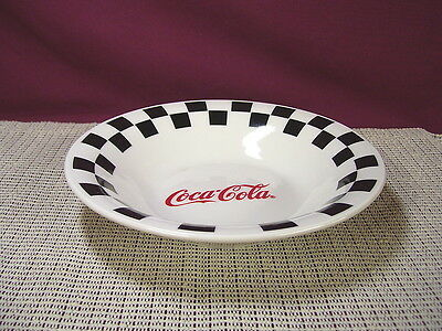 Gibson China Coca Cola Corner Cafe Pattern Soup Bowl New