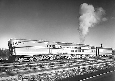 Railroad photo C&O Chesapeake & Ohio M-1 Steam Turbine Locomotive #500 train