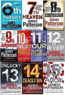 James Patterson Women's Murder Club Series 10 Books Collection Set (6-15) NEW PB