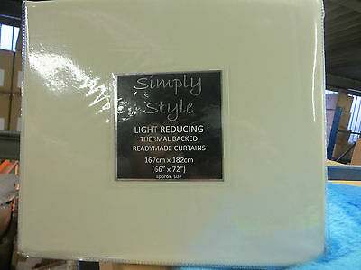 Simply style thermal backed light reducing ready made curtains plain 8 colours