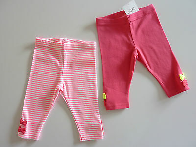 NEXT 2 Pairs Really Cute Little Pink Leggings NWT