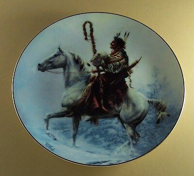 The Prideful Ones WINTER SONGSINGER Plate Native American Indian Chuck DeHaan