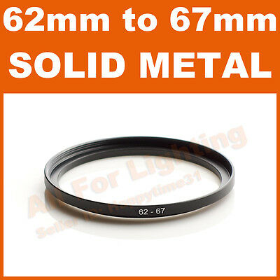 62-67 62mm to 67mm Metal Step Up Step-Up Ring for Lens Filter Stepping Macro
