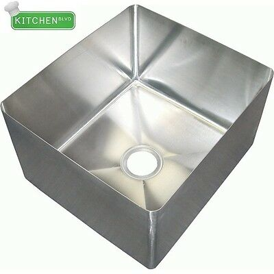 "S/S Center Drain Sink Bowl 20""x20""x8"""