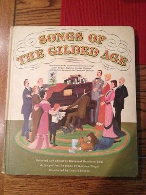 Vintage 1960s Songs of the gilded age collectible book