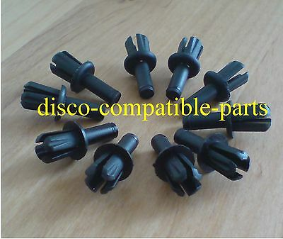 79086L Rear Bumper In-fill Strip Clips bag of 10 Land Rover Discovery 1