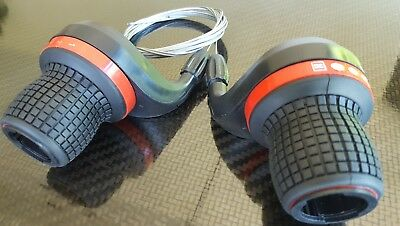 Gripshift Shifters (6 or 7 speed) Mountain Bike Twist Grips Gears + Inner Cable*