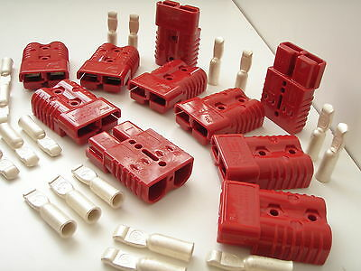 10 x 175A RED Battery Connector 20 x 50mm² Compatible with Anderson AND Terminal
