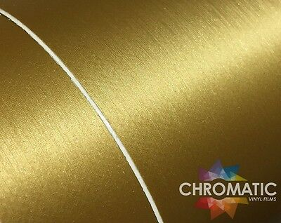 Gold Brushed Steel Wrap 1.52 x 3M - Bubble Free Car Wrapping Vinyl Film Foile