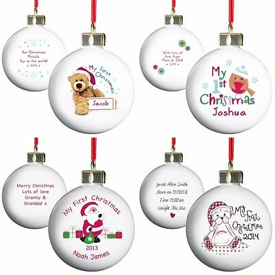 PERSONALISED BABYS 1st CHRISTMAS GIFT IDEA BABIES MY FIRST CHRISTMAS TREE BAUBLE