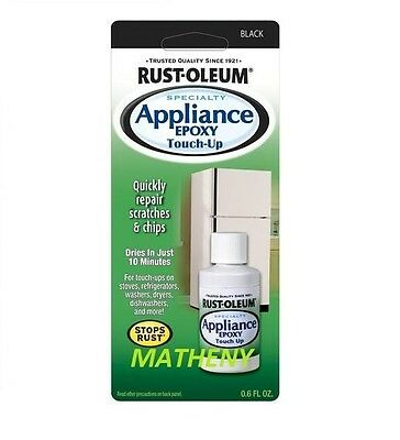 Rustoleum Black Specialty Appliance Touch-Up Paint Rust-Oleum Repair Chips