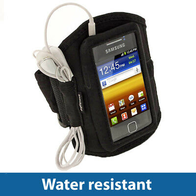 Black Sports Armband for Samsung Galaxy Y S5360 Android Gym Running Jogging