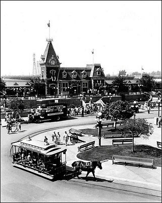 1966 Disneyland Town Square Photo 8x10 - Train Station  Buy Any 2 Get 1 Free
