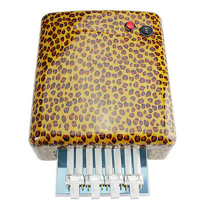 36W UV Lamp Nail Dryer Light For Gelish  Curing Timer  With 4* 9 Bulbs Leopard