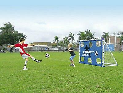 Kids Football Goals Posts - 2 In 1 Target Shot And 6Ft Goal Set *fast Delivery*