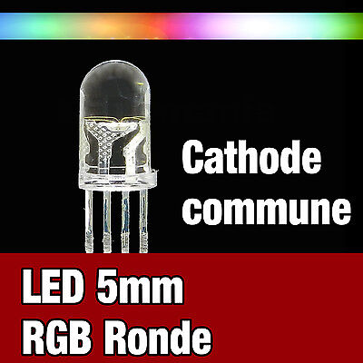 705D//100# LED RGB 5mm ronde diffusant rouge vert bleu 5mm cathode commune 100pcs