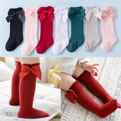 Baby Girl Children Kids Knee High Lace Frill Socks School Wedding Christening