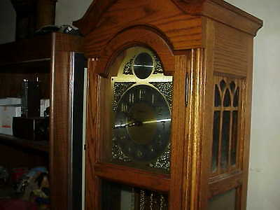 BEAUTIFUL WESTWOOD GRANDFATHER CLOCK, ALL SOLID WOOD IN GREAT CONDITION