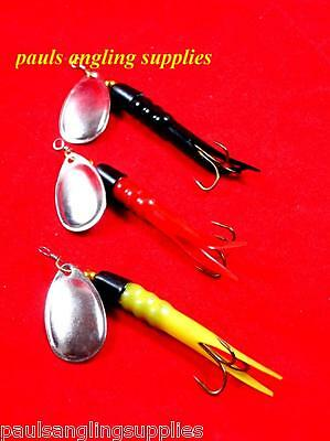 3 X Assorted Red , Yellow , Black 15g Flying Condom Salmon Fishing Lures