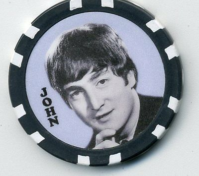 "Beatles   ""john""  Collector Chip"