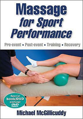 Massage for Sport Performance [With DVD] by Michael McGillicuddy Paperback Book