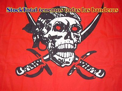 BANDERA Pirate - Red Skull Flag 150X90 CMS POLIESTER 100X100