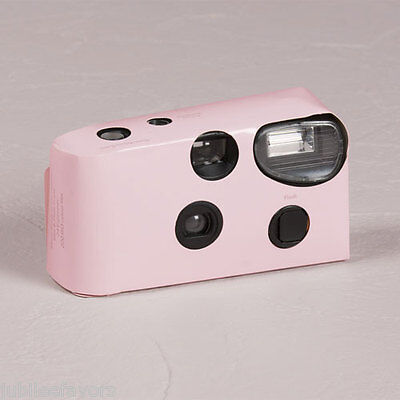 12 Single Use Baby Pink Solid Color Wedding Shower Party Disposable Cameras