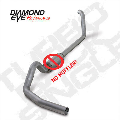 "Diamond Eye 4"" 409SS Turbo Back Exhaust No Muf 99-03 Ford SuperDuty 7.3L Diesel"