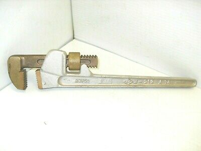 "NEW Ampco W-212 A14  Non Sparking Bronze Adjustable 14"" Pipe Wrench SPARK PROOF"