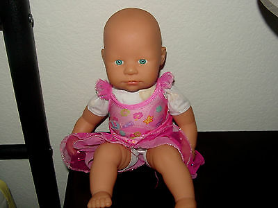 "Zapf Creation Pre-Tend Play Doll 14"" Long Green Eyes"
