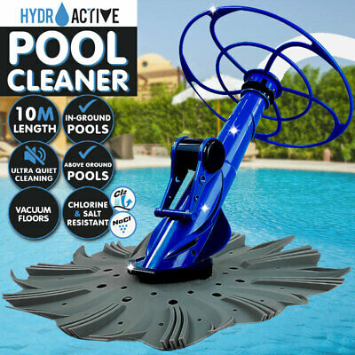 New HYDROACTIVE Swimming Pool Cleaner Floor Climb Wall Automatic Vacuum 10M Hose
