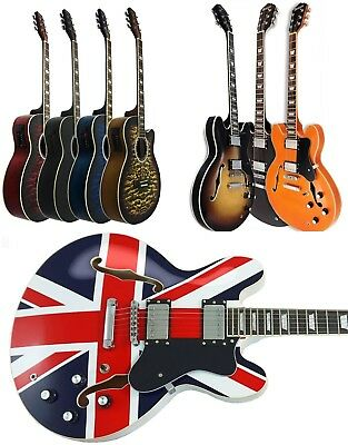 BRAND NEW full size BENSON HOLLOW BODY SEMI ACOUSTIC  ELECTRIC GUITAR PACKAGE