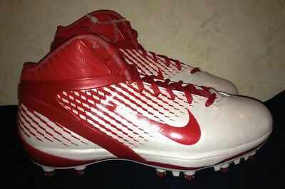 NIKE AIR ZOOM Alpha Talon White Red Football Cleats Shoes NEW Mens 12 14.5 15 16