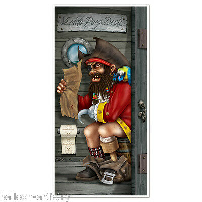5ft Pirate Party Poop Deck Captain Toilet Door Poster Banner Cover Decoration
