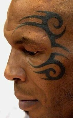 Halloween Temporary Mask Temorary Tattoo Mike Tyson